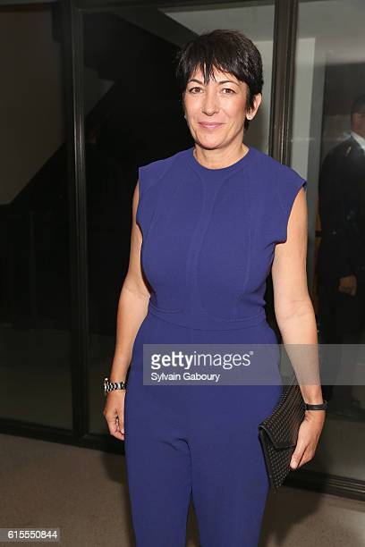 Ghislaine Maxwell attends VIP Evening of Conversation for Women's Brain Health Initiative Moderated by Tina Brown at Spring Studios on October 18...