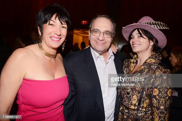Ghislaine Maxwell Bob Weinstein and Karen Duffy attend Holly Peterson's THE IDEA OF HIM Book Party at The Four Seasons on April 2 2014 in New York...