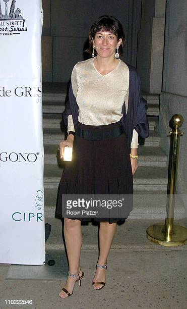 Ghislaine Maxwell during The 2005 Wall Street Concert Series Benefiting Wall Street Rising Starring Rod Stewart at Ciprianis Wall Street in New York...