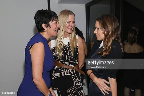 Ghislaine Maxwell Gigi Mortimer and Samantha Boardman attend VIP Evening of Conversation for Women's Brain Health Initiative Moderated by Tina Brown...