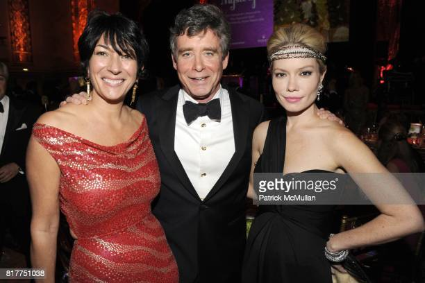 Ghislaine Maxwell Jay McInerney and Brooke Geahan attend 2010 Alzheimer's Association Rita Hayworth Gala at the Waldorf Astoria on October 26th 2010...