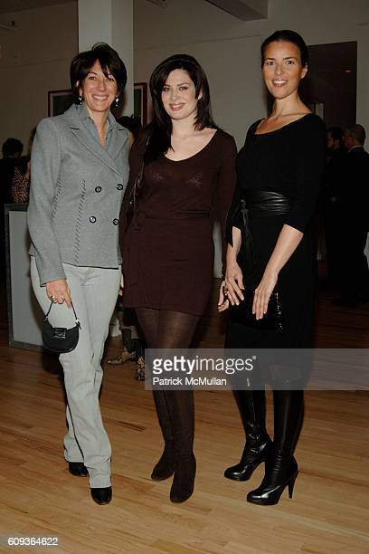 Ghislaine Maxwell Joanne Noel and Ann Caruso attend LISA PERRY Fashion Collection Launch Party at Lisa Perry Studio on January 30 2007 in New York...
