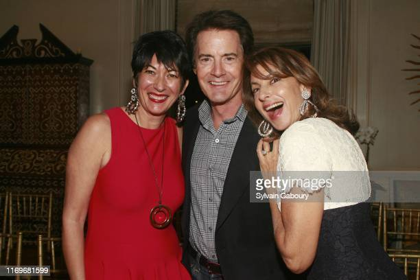 Ghislaine Maxwell Kyle MacLachlan and Kalliope Rena attend Christine Steve Schwarzman Host a Private Evening to Celebrate Anna Netrebko's New Album...