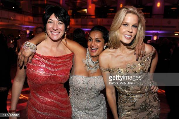 Ghislaine Maxwell Ranjana Khan and Mary Alice Stephenson attend 2010 Alzheimer's Association Rita Hayworth Gala at the Waldorf Astoria on October...