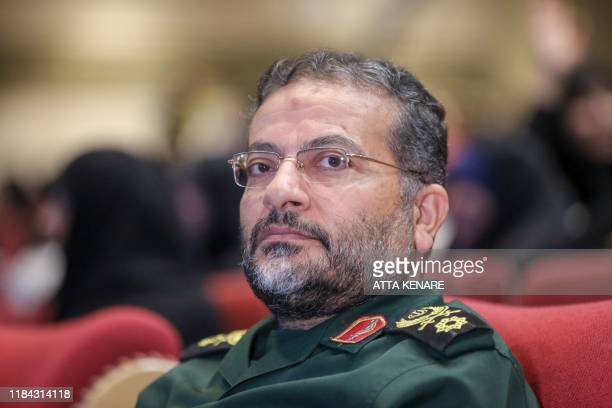 Gholamreza Soleimani a senior officer in the Islamic Revolutionary Guard Corps who commands Basij forces attends a gathering during Basij Week in the...
