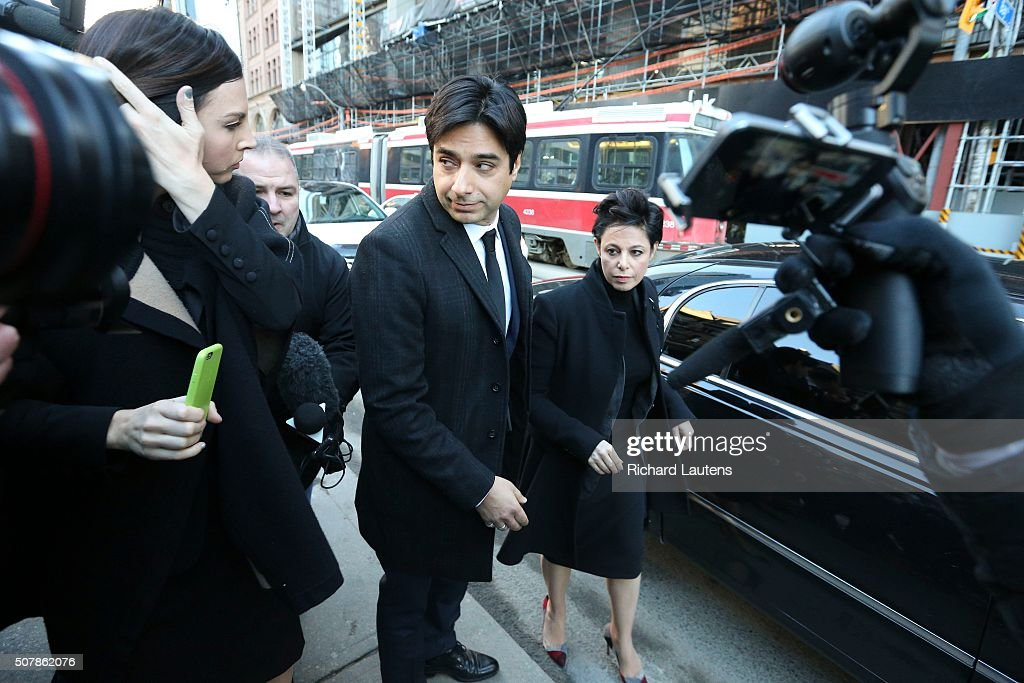 TORONTO, ON - FEBRUARY, 1 - Ghomeshi arrives with his lawyer, Marie Henein First day of the former CBC hosJian Ghomeshi trial at Old City Hall court.