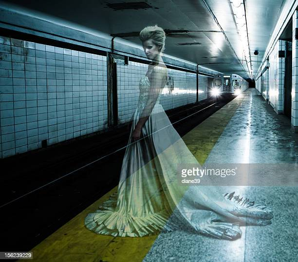 Ghost bride in the Underground