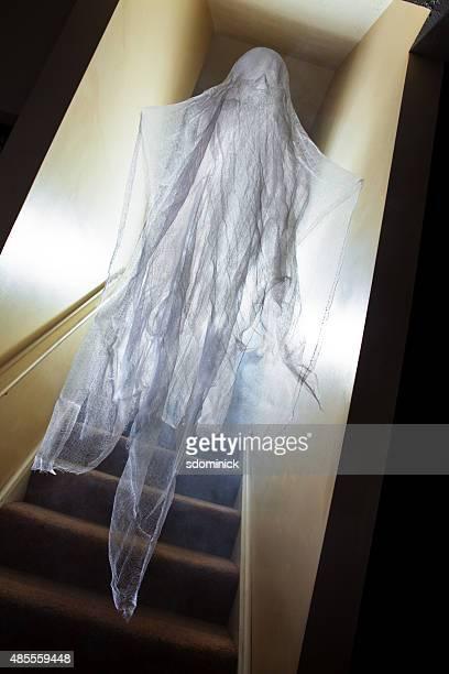 Ghost Figure Walking Down Stairs