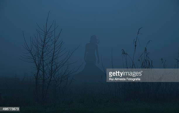 Ghost girl silhouette