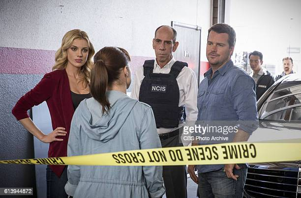 Ghost Gun Pictured Anna Kolcheck Renée Felice Smith Miguel Ferrer and Chris O'Donnell The murder of a Navy Machinist with high security clearance...
