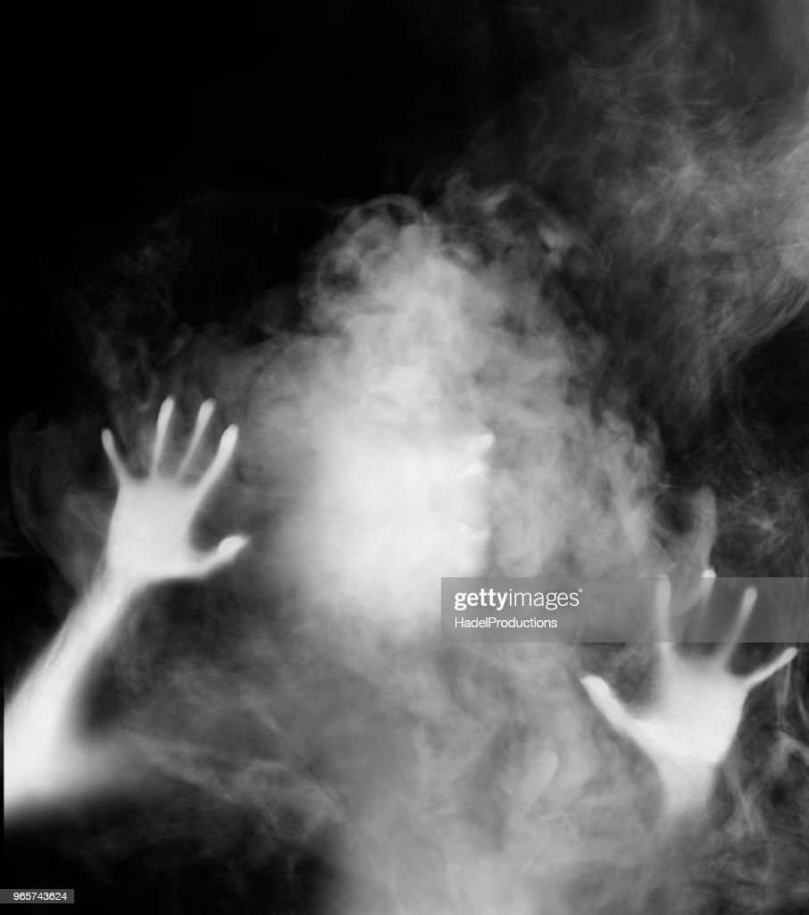 Ghost in the mist : Stock Photo