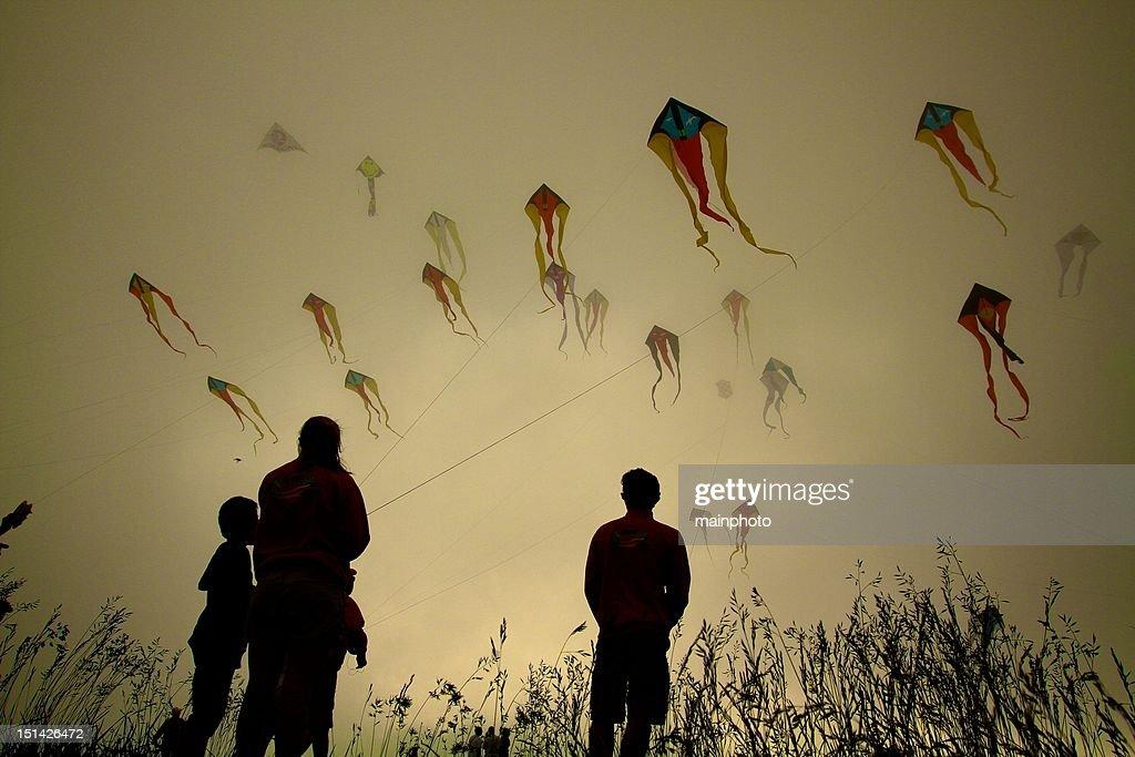 Ghost kites : Stock Photo