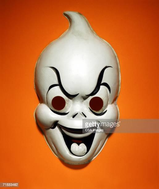 ghost mask - very scary monsters stock photos and pictures