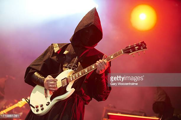 Ghost perform on stage during the second day of Download Festival at Donnington Park on June 11 2011 in Donnington United Kingdom