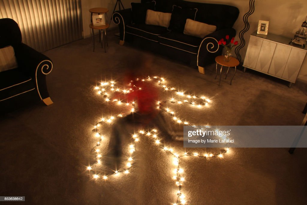 Ghost Person In Christmas Lights