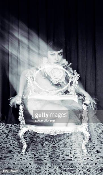 ghost portrait - victorian erotica stock photos and pictures