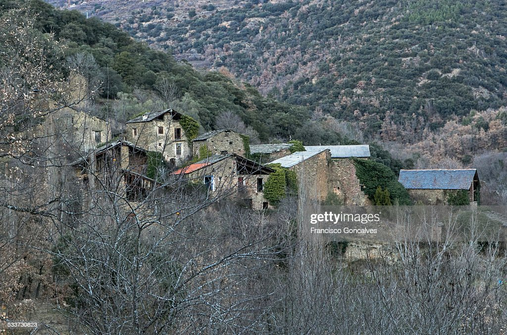 Ghost town in The Pyrenees : Foto stock