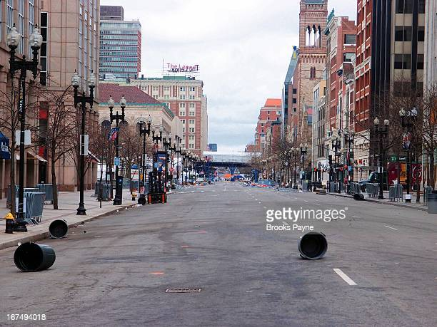 Ghost town under lockdown while Boston police searched for the second suspect in the Boston marathon bombings