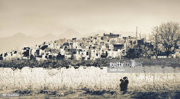 ghost village - afghanistan stock pictures, royalty-free photos & images