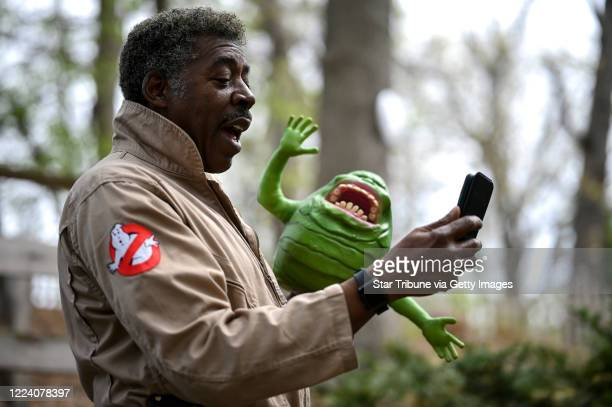 Ghostbusters co-star Ernie Hudson recorded an uplifting video message for a fan in his backyard Tuesday while donning his Ghostbusters jumpsuit and a...