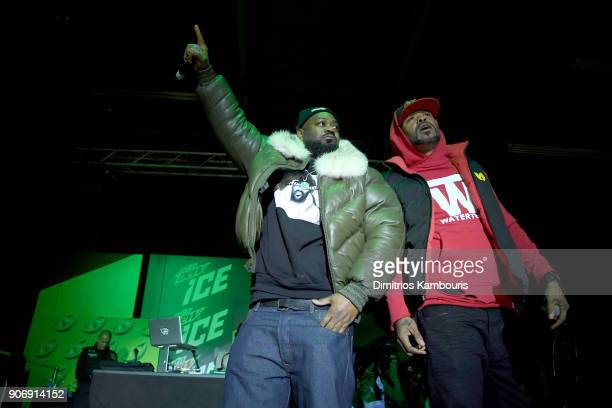 Ghostface Killah and Method Man of WuTang Clan perform onstage at the Mtn Dew ICE launch event on January 18 2018 in Brooklyn New York