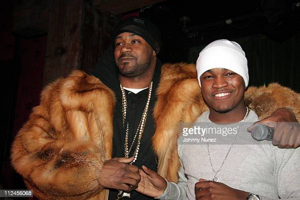 Ghostface Killah and NeYo during NeYo Album PreRelease Party February 27 2006 at Hiro in New York City New York United States