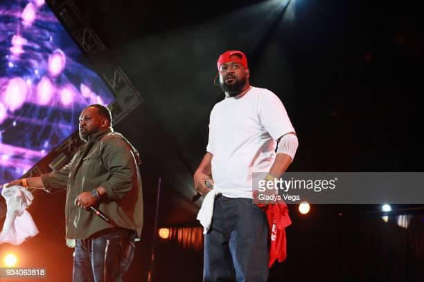 Ghostface Killah and Raekwon perform as part of the benefit concert 'Power To The People' at Coliseo Jose M Agrelot on March 18 2018 in San Juan...