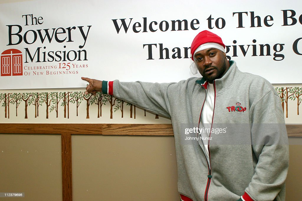 Ghostface Killah during Ghostface Gives Away Sleeping Bags To The Homeless at The Bowery Mission in New York City, New York, United States.
