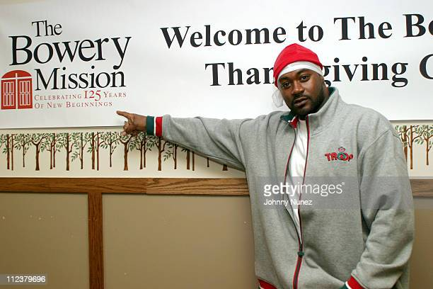 Ghostface Killah during Ghostface Gives Away Sleeping Bags To The Homeless at The Bowery Mission in New York City New York United States