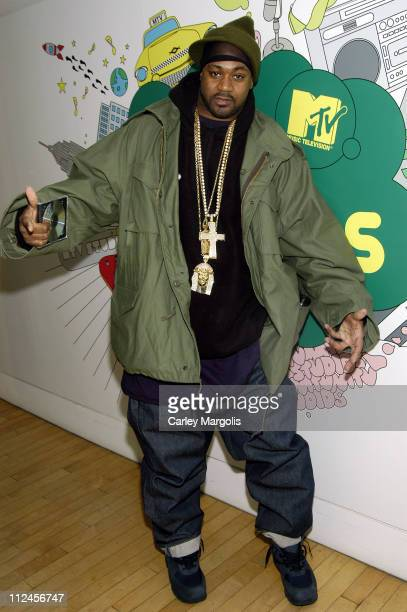 Ghostface Killah during Juvenile Ghostface Killah Three 6 Mafia and Chamillionaire Visit MTV2's 'Sucker Free Week' March 1 2006 at MTV Studios in New...