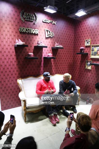 Ghostface Killah poses with fans at New Era Cap 2017 Complex Con Ambassador Collab lounge with A$AP Ferg Mike Will MadeIT Jerry Lorenzo Takashi...