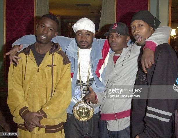 GZA Ghostface Killah Power and RZA during GZA and WuTang Clan 2002 Video Shoot at Etoile in New York City New York United States