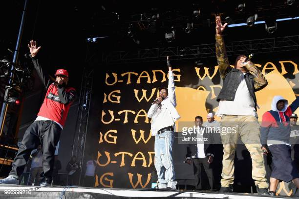 Ghostface Killah RZA GZA UGod and Cappadonna of WuTang Clan perform on the Colossal Stage during Clusterfest at Civic Center Plaza and The Bill...