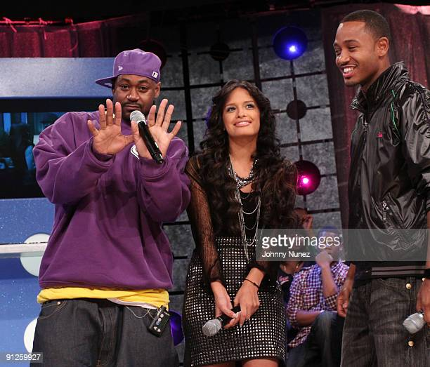 Ghostface Rocsi and Terrence J on BET's '106 Park' at BET Studios on September 28 2009 in New York City