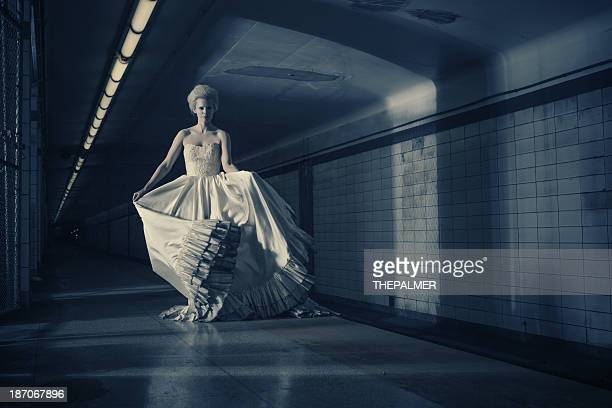ghostly bride in the subway