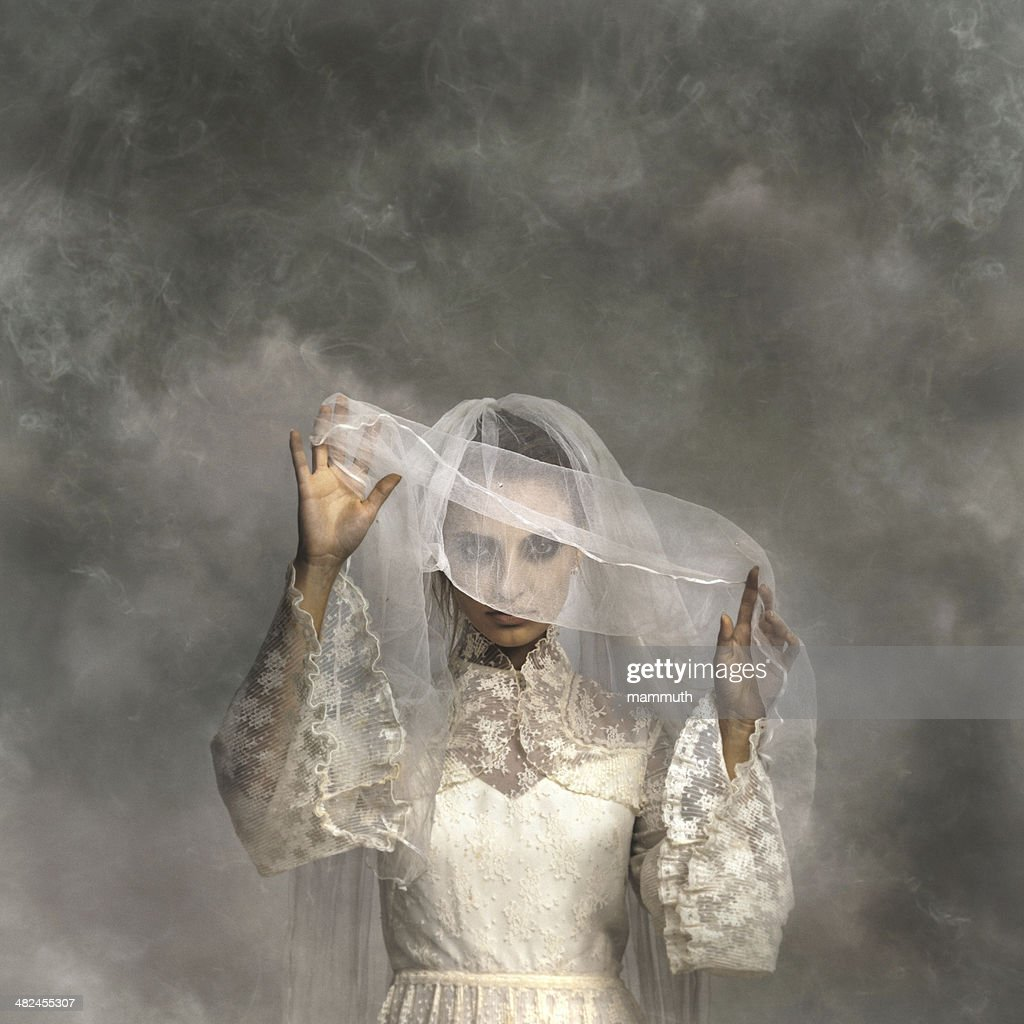ghostly bride : Stock Photo