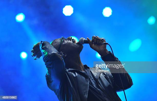 Ghostpoet performs on stage during the final day of the Reading Festival at Richfield Avenue on August 30 2015 in Reading England