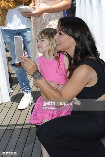 Gia and Mayte Garcia attend the LA Launch Party for Prince's PETA Song at PETA on June 7 2016 in Los Angeles California