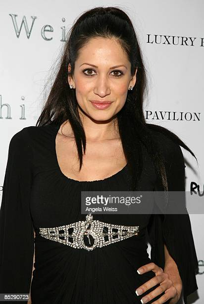 Gia Bay arrives to the Barking Boutique Fundraiser hosted by Ashley Paige held at the 944 Magazine headquarters on March 6 2009 in West Hollywood...