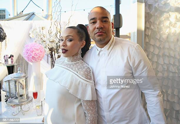Gia Casey and DJ Envy attend a Surprise Baby Shower For Gia Casey Hosted By 50 Cent at STK on July 24 2016 in New York City