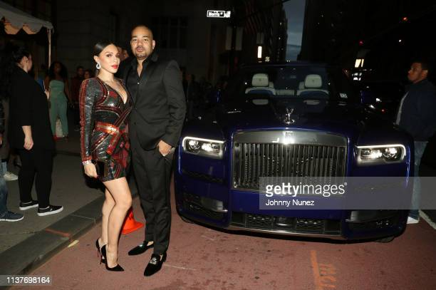 Gia Casey and DJ Envy attend the 13th Annual HealthCorps Gala at Cipriani 25 Broadway on April 16 2019 in New York City