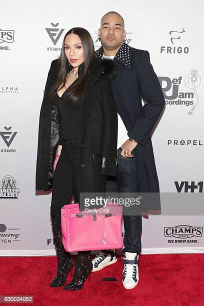 Gia Casey and DJ Envy attend The 2016 Def Jam Holiday Party sponsored by VH1 The Breaks Champs Sports Tanqueray 10 Zacapa Rum at Spring Place on...
