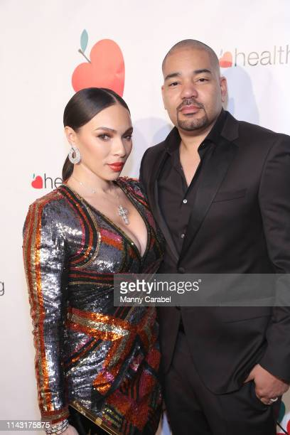 Gia Casey and DJ Envy attend the HealthCorps 13th Annual Gala at Cipriani 25 Broadway on April 16 2019 in New York City