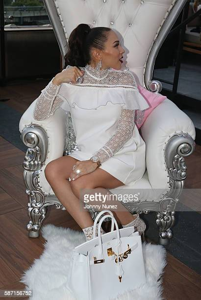 Gia Casey attends her Surprise Baby Shower Hosted By 50 Cent at STK on July 24 2016 in New York City