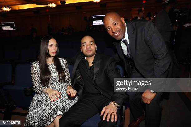 Gia Casey DJ Envy and Shawn Prez attend the 5th Annual Global Spin Awards at The Orpheum Theatre on February 16 2017 in New Orleans Louisiana