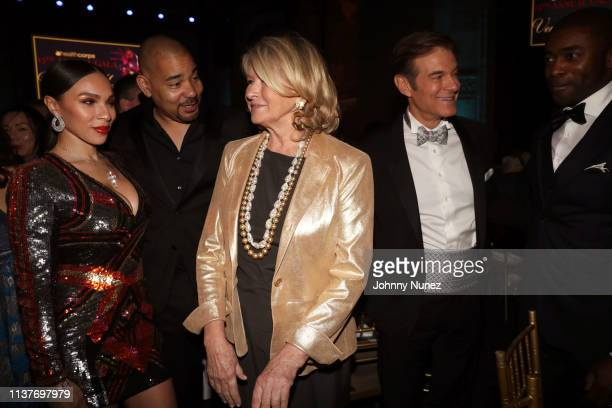 Gia Casey DJ Envy Martha Stewart Dr Mehmet Oz and Curtis Martin attend the 13th Annual HealthCorps Gala at Cipriani 25 Broadway on April 16 2019 in...