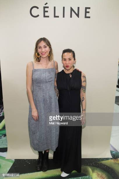 Gia Coppola and Olivia Kim attend the Celine Nordstrom PopUp at Nordstrom on February 15 2018 in Seattle Washington