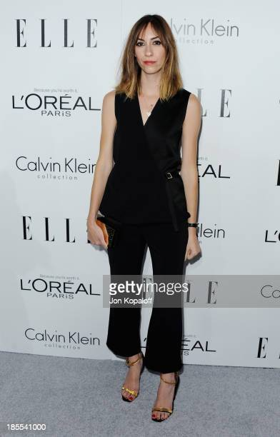 Gia Coppola arrives at ELLE Celebrates 20th Annual Women In Hollywood Event at Four Seasons Hotel Los Angeles at Beverly Hills on October 21 2013 in...