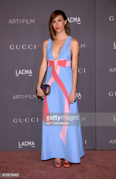 Gia Coppola attends the 2017 LACMA Art Film Gala Honoring Mark Bradford and George Lucas on November 4 in Los Angeles California / AFP PHOTO / TARA...
