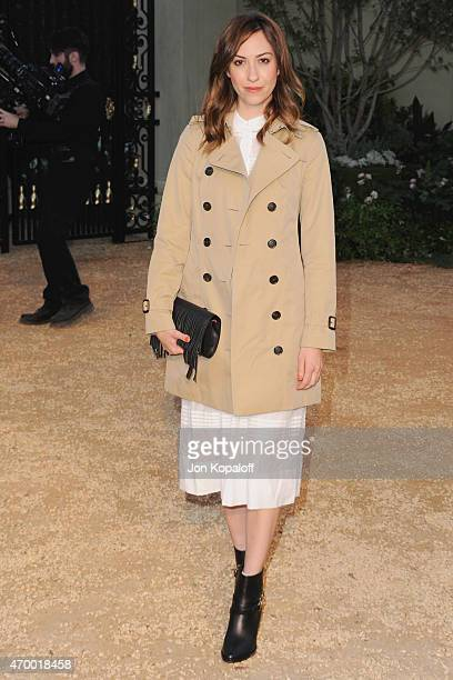 Gia Coppola attends the Burberry 'London in Los Angeles' event at Griffith Observatory on April 16 2015 in Los Angeles California
